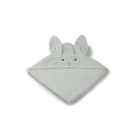 Liewood Augusta Rabbit Hooded Towel - Dusty Mint-Towels & Robes-Dusty Mint-One Size- Natural Baby Shower