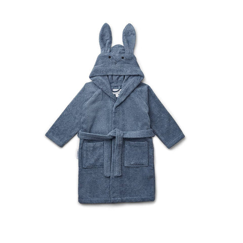 Liewood Lily Rabbit Bathrobe - Blue Wave-Towels & Robes- Natural Baby Shower