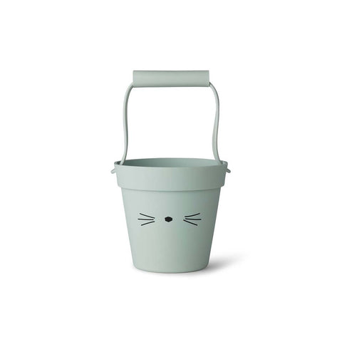 Liewood Linda Bucket - Cat - Dusty Mint-Play Sets- Natural Baby Shower