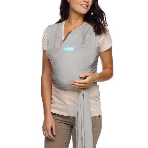 Moby Classic Wrap - Stone Grey-Baby Carriers- Natural Baby Shower