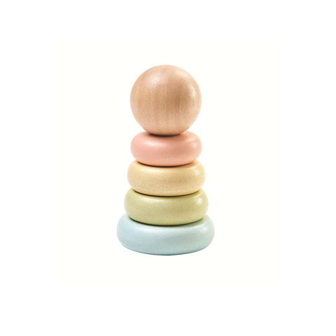 Plan Toys First Stacking Ring - A Touch of Pastel-Sorting & Stacking Toys- Natural Baby Shower