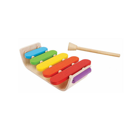Plan Toys Oval Xylophone-Musical Instruments- Natural Baby Shower