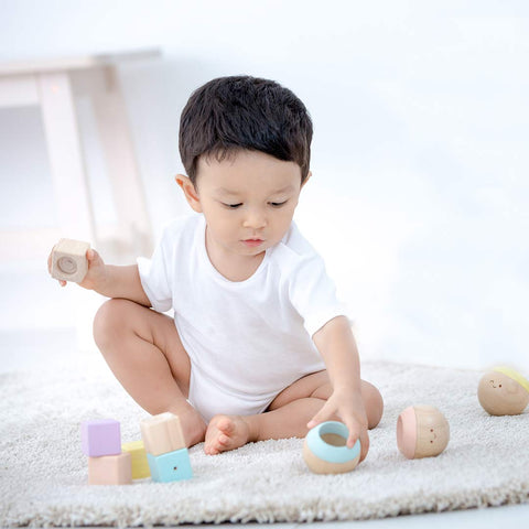 Plan Toys Sensory Tumbling - Pastel-Play Sets- Natural Baby Shower