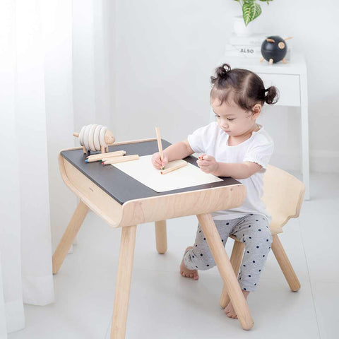 Plan Toys Table & Chair-Nursery Accessories- Natural Baby Shower