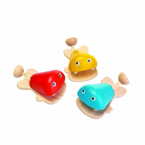 Plan Toys Fish Castanet (1 Piece)-Musical Instruments- Natural Baby Shower