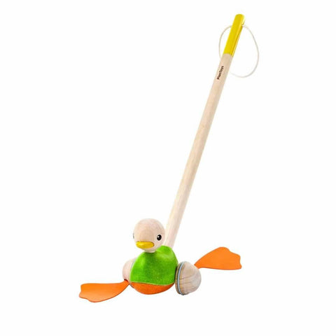 Plan Toys Push Along Duck-Baby Walkers- Natural Baby Shower