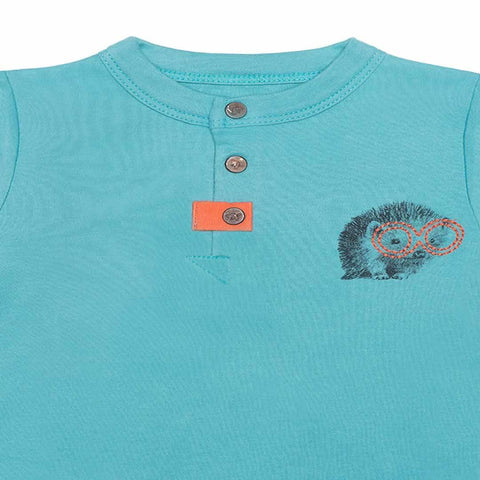 Finn + Emma Footie - Dusty Turquoise-Sleepsuits- Natural Baby Shower