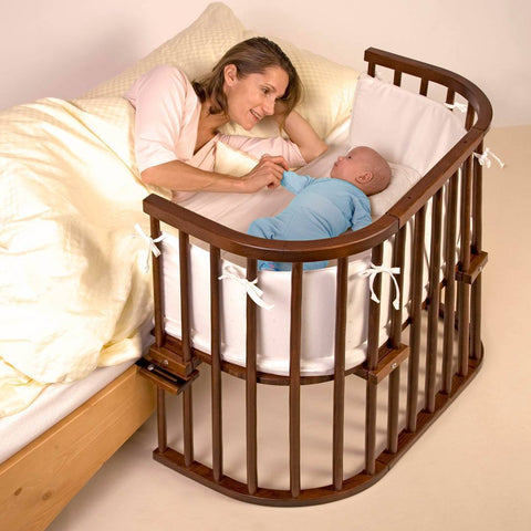 BabyBay Convertible Bedside Crib - Dark Wood-Cribs-Default- Natural Baby Shower