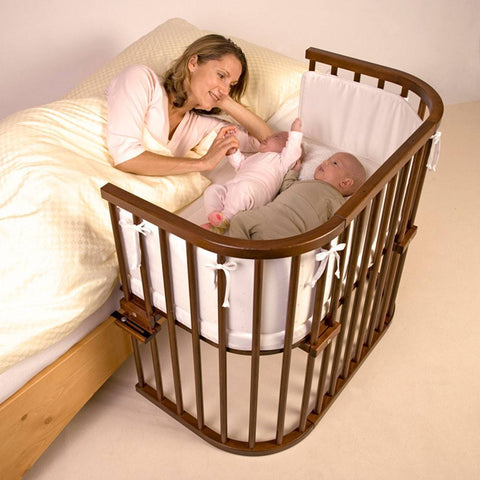 BabyBay Maxi Bedside Crib - Dark Wood-Cribs-Default- Natural Baby Shower