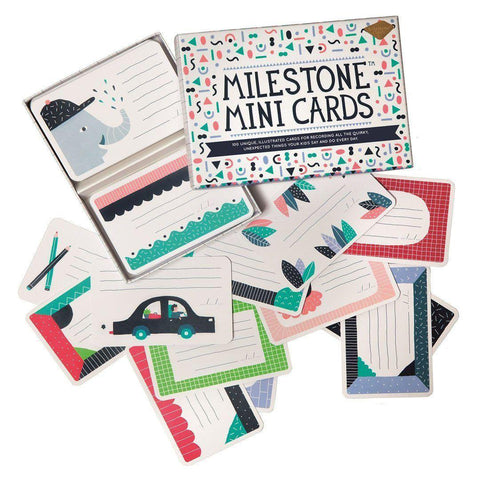 Milestone Mini Cards-Greeting Cards-Default- Natural Baby Shower