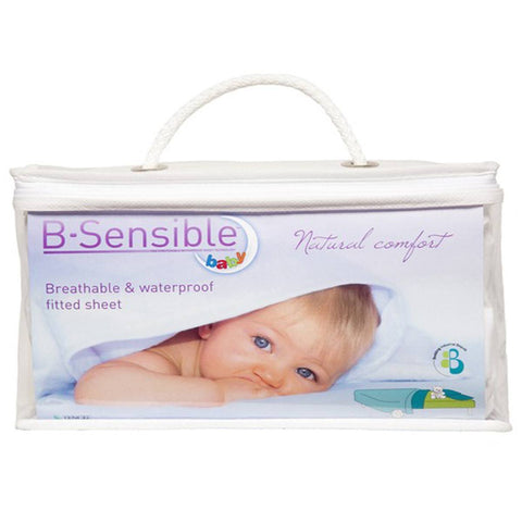 BabyBay B-Sensible 'Tencel' Fitted Sheet - Blue-Sheets-Default- Natural Baby Shower