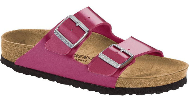 Birkenstock Arizona electric metallic magenta Birko-Flor