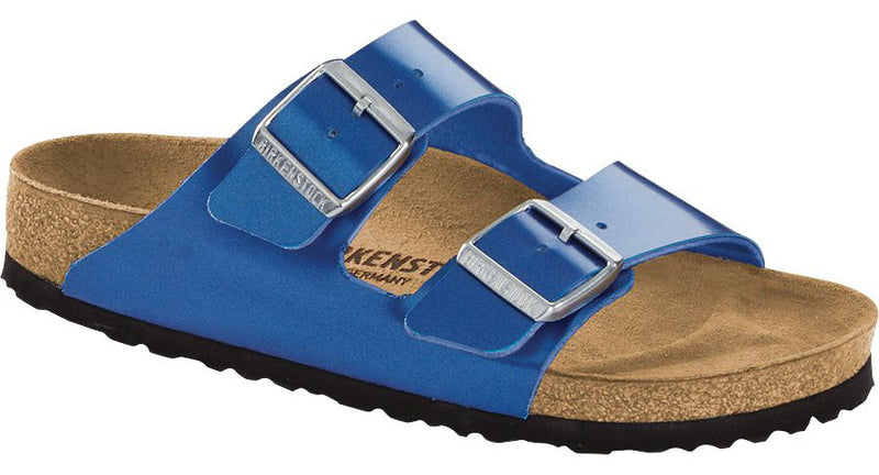 Birkenstock Arizona electric metallic ocean Birko-Flor