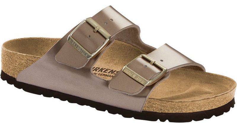 Birkenstock Arizona electric metallic taupe Birko-Flor