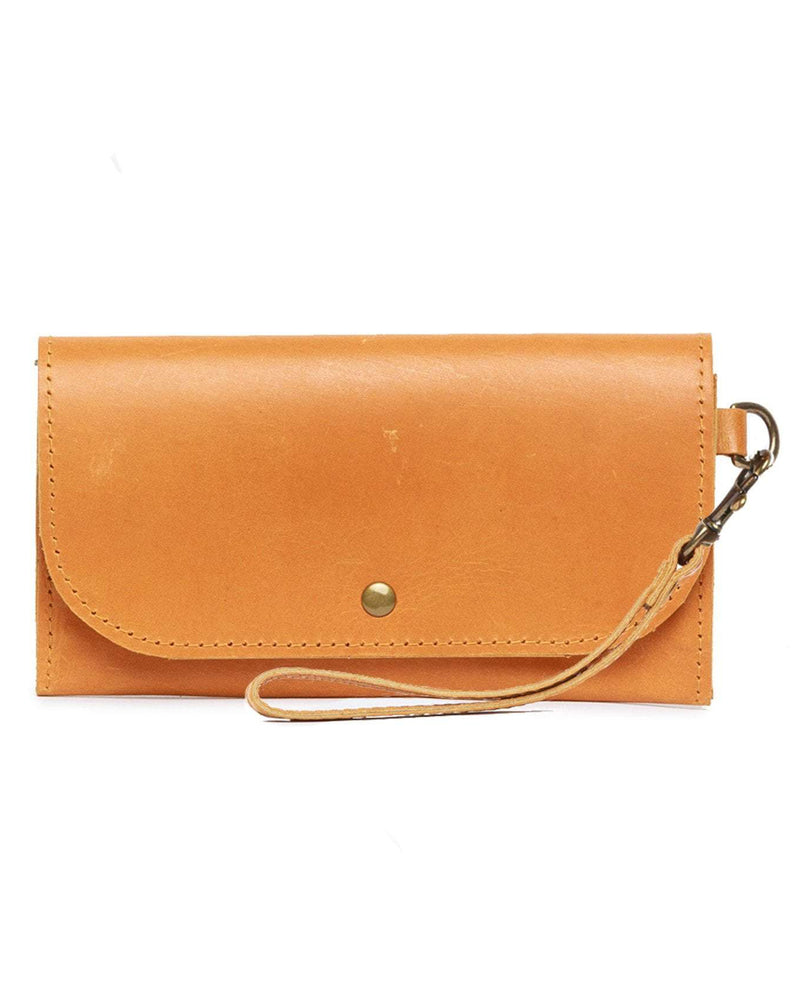 ABLE Mare Phone Wallet cognac leather