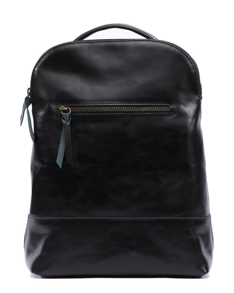 ABLE Meron Backpack black leather