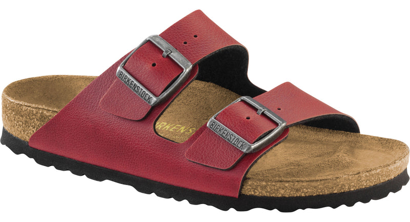 Birkenstock Arizona bordeaux pull-up Birko-Flor