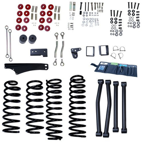 Rugged Ridge 4-Inch Lift Kit without Shocks, 07-15 Jeep Wrangler (JK)