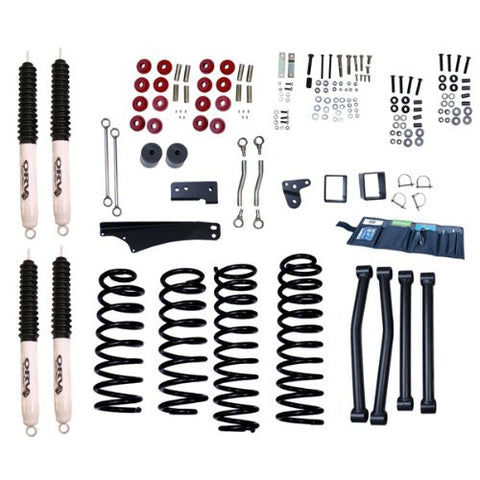 Rugged Ridge 4-Inch Lift Kit with Shocks, 07-15 Jeep Wrangler (JK)