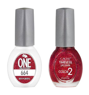 En Fuego Matching Color of One Gel Polish & Timeless Lacquer Duo Set