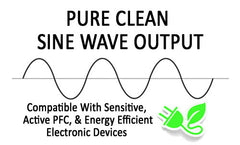 Pure True Clean Sine Wave Output Battery Backup UPS