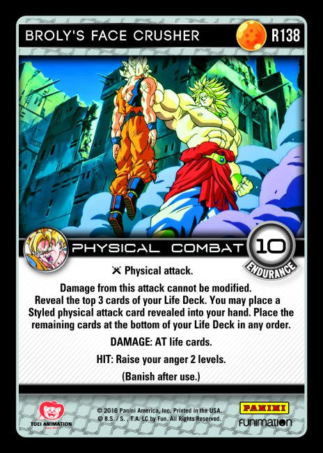 #R138 Broly's Face Crusher (Vengeance) - Foil
