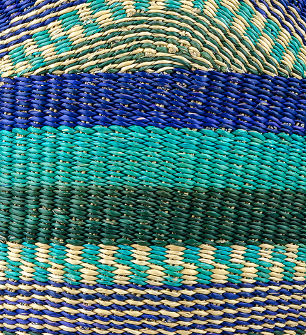 Fair Trade Blue and Green Thick Hand Woven Tote - accessories, accessory, africa, African, assorted-styles, bag, bags, bags-clutches-wallets, bags-purses, Bohemian, bohemian-chic, boho, Boho Chic, bright, colorful, day, days, eco, eco-friendly, fair, fair-trade, for her, Gift, gifts, hand, Hand Woven, handmade, Leather Shopper, made, mother, mothers, purse, purses, shopping, shopping bag, Sustainable, sustainably, sustainably harvested, Tote, Totes, trade