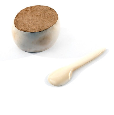 Fair Trade White Cow Bone Salt Cellar - africa, african, Boho Chic, Cow Bone, eco, fair-trade, gifts-for-the-host, handmade, Kenya, kitchen-dining, Odds & Ends, spice-cellars, sustainable, sustainably harvested, tabletop-dinnerware-1