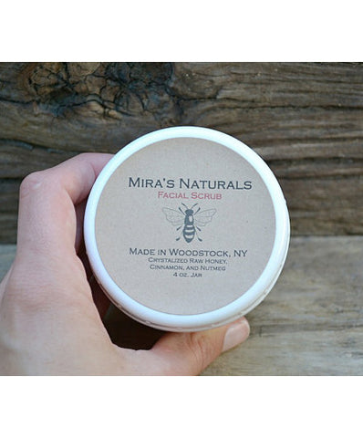 Mira's Naturals Raw Honey Facial Scrub - american-made, bath-beauty, face-scrubs, handmade, Honey, organic, soaps-lotions-creams