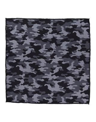 Black Double Sided Camo Pocket Square