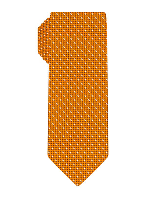 Orange Woven Grenadine Dash Tie