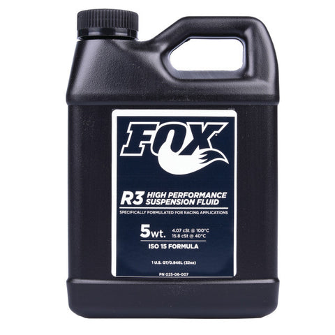 FOX Oil Suspension Fluid 1.00 Quart R3 5WT ISO 15