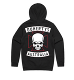 Hoodie - Black with Red Cross