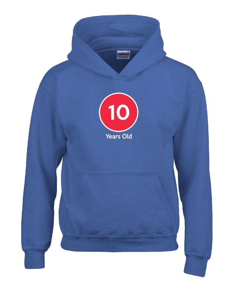 10 Years Old Birthday Age Gift - Hoodie