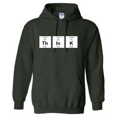 THINK PERIODIC TABLE T SHIRT - Adult Hoodie
