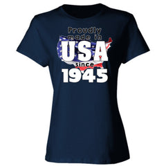 Proudly Made in USA since 1945 - Ladies' 4.5 oz., 100% Ringspun Cotton nano-T® T-Shirt