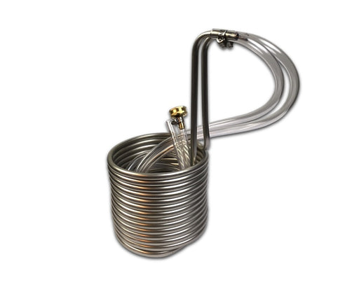 "25' Compact Stainless Steel Immersion Wort Chiller (3/8""OD)"