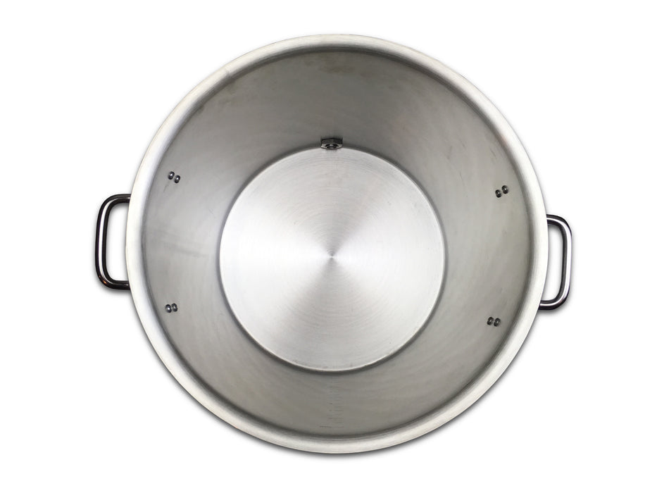 10 Gallon Kettle w/Valve, Stainless Steel, Heavy Duty Tri-Clad Bottom