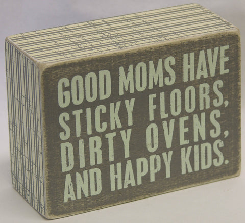 Good Moms Box Sign