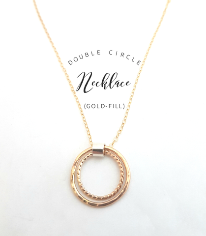 Double circle necklace (gold filled)