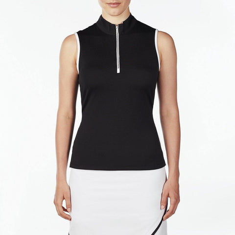 Nivo Waves Wynne Mock Sleeveless Polo