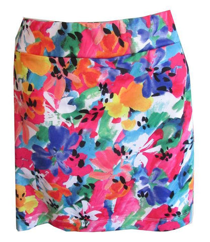 EP Pro A Place In The Sun Plus Size Flower Print Skort