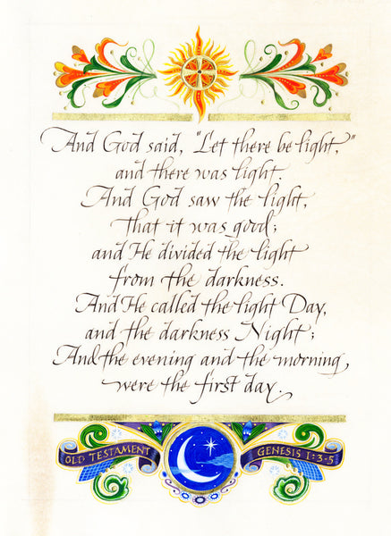 And God Said  Calligraphy Print Holly Monroe