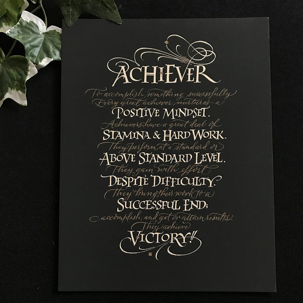 Achiever - Holly Monroe Calligraphy Print