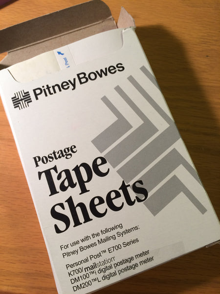 Pitney Bowes Postage Tape Strips