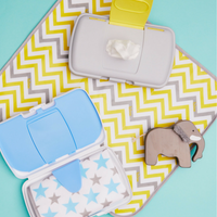 diaper wallet - retro circles