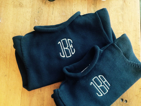 Monogrammed Roll neck Sweater