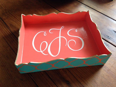 Hand Painted Square Trinket Tray