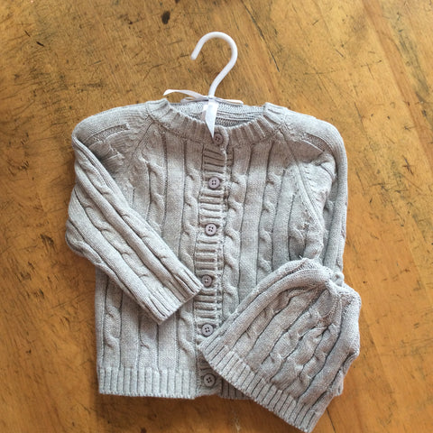 Monogrammed Cable Sweater