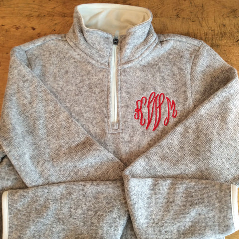 Monogrammed Pullover Sweater